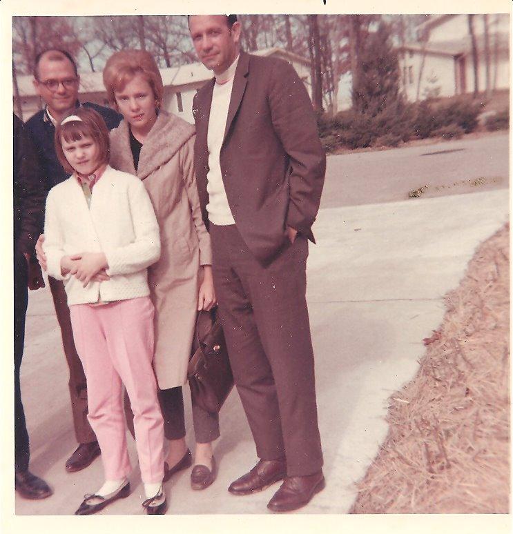 Bob, Sandy, Sharon & Sam & rabbit February 1969